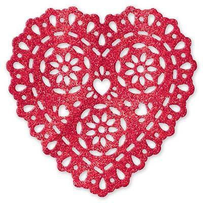 Картинка блестящий Сердце-кружево