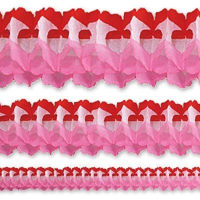 Гирлянда Декор 36м красно-бело-розовая