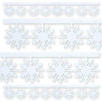Гирлянда Снежинка фольгированная 3мх10см