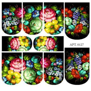 Слайдер-дизайн для ногтей № 0127