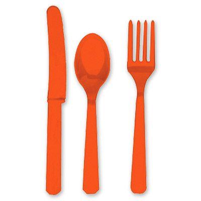 Столовые приборы Оранжевый Апельсин