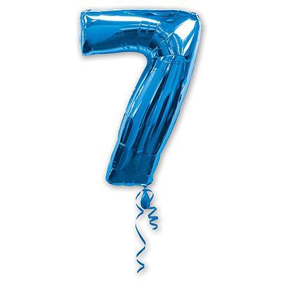 Шар-фигура Цифра 7 Синяя