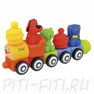 "K's Kids. Popbo train set.  Мягкий конструктор ""Поезд друзей"""