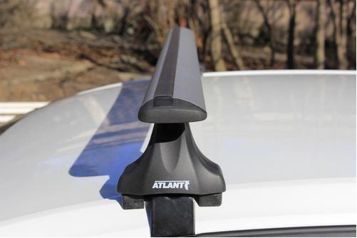 Багажник на крышу Daewoo Gentra, Атлант, крыловидные дуги, опора Е