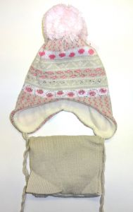 зимний комплект из шлема и шарфа