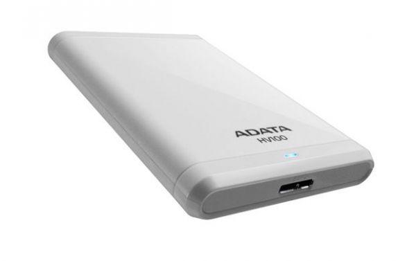 1TB внешний жесткий диск USB3.0 ADATA HV100 белый корпус