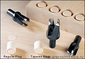 Пробочники 4-лапые Veritas Tapered Snug-Plug Cutters D 6,8 и 10 мм 05J05.50 М00006197