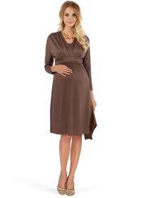 """Платье """"Бегония"""" коричневое для беременных и кормящих"""