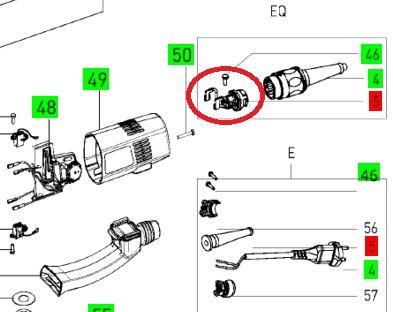 Штекерная колодка для Rotex 150, MFK 700 EQ, PS 300 EQ, OFK 700 EQ