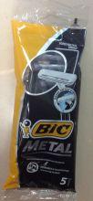 BIC Metal одноразовые бритвенные станки ,упаковка 5 штук.пр-во Греция.