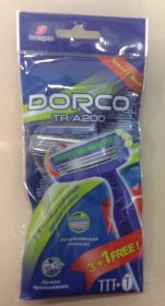 DORCO TRA200-(3+1) одноразовый станок для бритья с 3 лезвиями (Корея).
