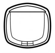 Лицевая панель для выкл. с ключ-картой Legrand Celiane Графит (арт.64970)