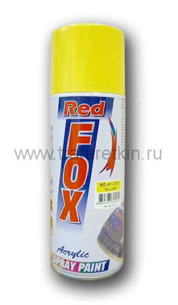 Краска-спрей RED FOX (желтая RAL 1018)