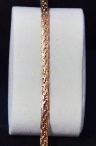 Позолоченная цепочка с элегантным плетением с гравировкой, 7 мм (арт. 250112)