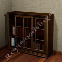 """Книжный шкаф со стеклянными дверцами """"Лондон СИТИ-С орех"""" из дерева"""
