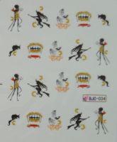 Водная наклейка для дизайна ногтей BJC - 034