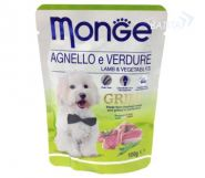 Monge Dog Grill Pouch Паучи для собак ягненок с овощами (100 г)