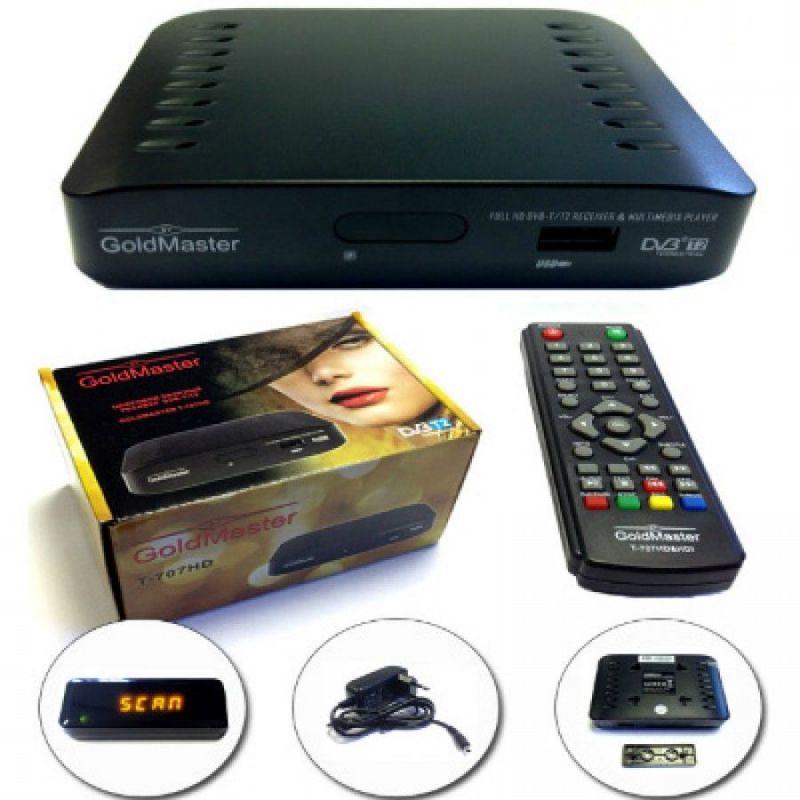 DVB-T2 ресивер GoldMaster T-707HD mini