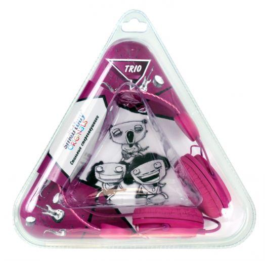 Мониторные наушники SmartBuy® TRIO, пурпурные (2 метра)