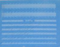 Водная наклейка для дизайна ногтей d167 белый