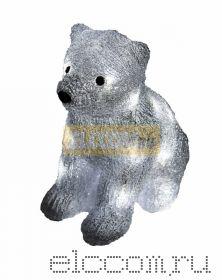 """Акриловая светодиодная фигура """"Медвежонок"""" 17х24х29 см, 4,5 В, 3 батарейки AA (не входят в комплект), 20 светодиодов, NEON-NIGHT"""
