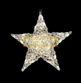 """Фигура стеклянная """"Звезда"""" 30см, 24 светодиода, IP44 понижающий трансформатор в комплекте, NEON-NIGHT"""