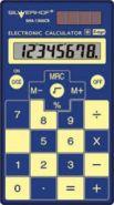 "Калькулятор ""Silwerhof. School SHA-130SCB"" 8 разр., карманный 2 пит. тонкий синий (арт. 601008-02)"