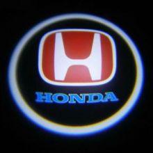 """Проекция логотипа, """"приветственный свет"""", на 2 двери"""