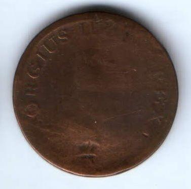 1/2 пенни 1805 г. Ирландия