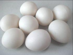 Супер Пластиковое яйцо (белое, полое) - 5.7х4.6 см