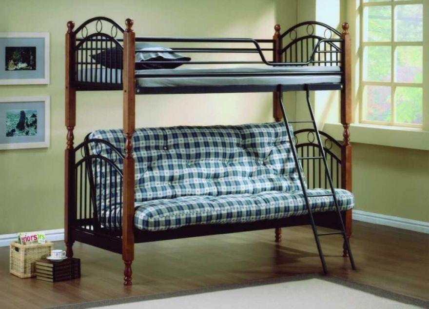 Кровать двухъярусная с футоном PS 618 Малайзия   МК