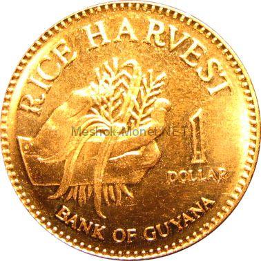 Гайана 1 доллар 2002 г.