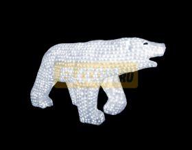"""Акриловая светодиодная фигура """"Белый медведь"""" 100х175см, 3872 светодиода, IP 44, понижающий трансформатор в комплекте, NEON-NIGHT"""