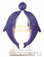"""Акриловая светодиодная фигура """"Дельфины в тандеме"""" 150х130см, 2000 светодиодов, IP 44, понижающий трансформатор в комплекте, NEON-NIGHT"""