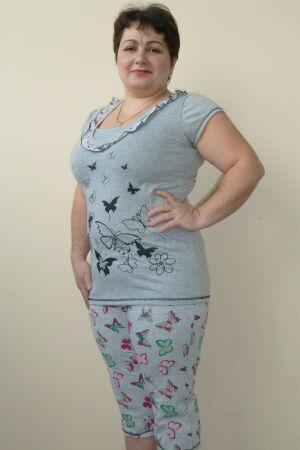 Пижама женская из пижамы и бридж Бабочка
