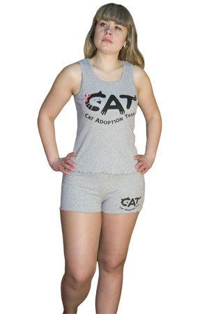 Трикотажная женская пижама Cat