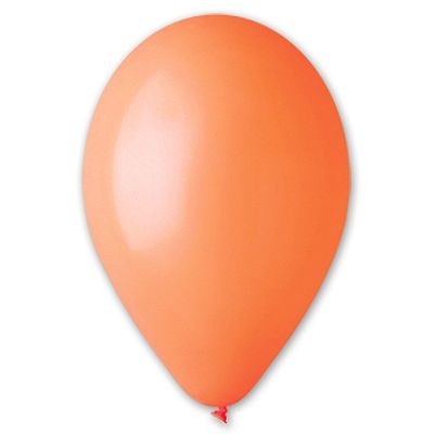 Надувные оранжевые шарики 5 шт., размер 13 см