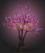 """Светодиодное дерево """"Сакура"""", высота 1.7 метра, фиолетовые светодиоды, IP 54, понижающий трансформатор в комплекте, NEON-NIGHT"""