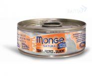 Monge Cat Natural Консервы для кошек тунец с лососем (80 г)
