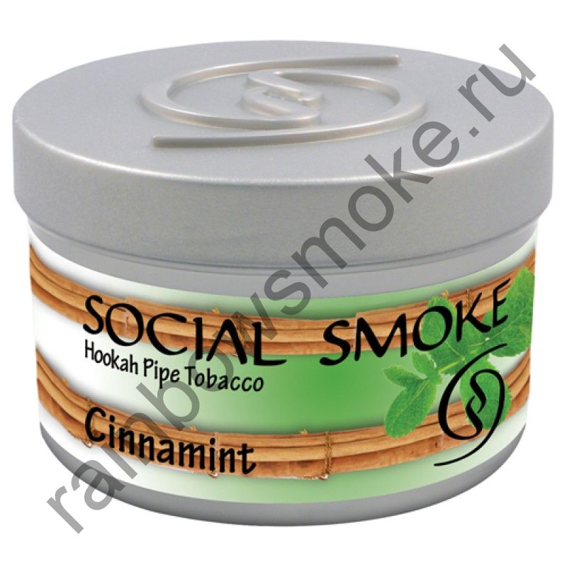 Social Smoke 250 гр - Cinnamint (Корица с Мятой)