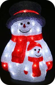 "Фигура ""Снеговик со снеговичком"", 40см"