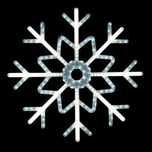 """""""Снежинка белая"""" с бегущами лучами, 100см"""