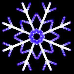 """""""Снежинка синяя"""" с бегущими лучами, 100см"""