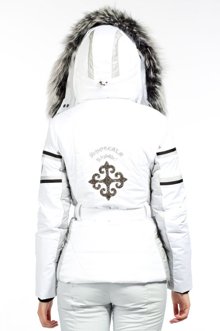 Sportalm Women Lance Jacket with Hood and Fur 13 White женская лыжная куртка