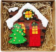 """Новогодние подарки Пряники имбирные """"Рождественский домик"""" Ginger Dream"""