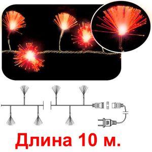 Кисточки красные, 100 светодиодов