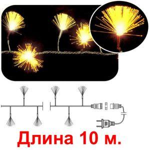 Кисточки желтые, 100 светодиодов