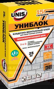 Кладочно-монтажный клей Униблок Юнис 25кг