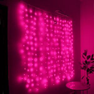 """Занавес """"Светлячок"""" пурпурный, 1.6х1.6м"""