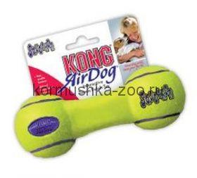 """Kong игрушка для собак """"Air Гантель"""" без пищалок (ВЫБЕРИТЕ РАЗМЕР!)"""